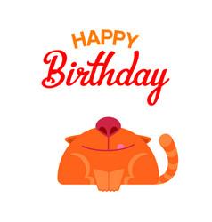 Happy birthday cat card vector