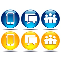 Phone Group Speech bubble communication icons vector image
