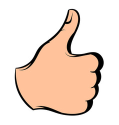 thumb up icon icon cartoon vector image