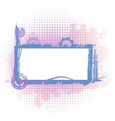 violet industrial frame vector image vector image