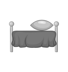 Bed with pillow icon black monochrome style vector image vector image