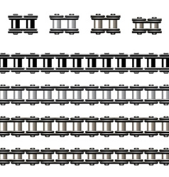 bicycle chain seamless vector image