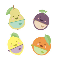 cute fruits chefs vector image