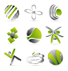 green business icons design vector image vector image