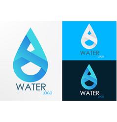 logo water infinity vector image