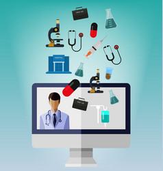 medical supplies set vector image
