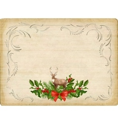 Vintage Christmas Card vector image vector image