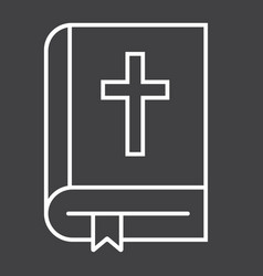 bible line icon easter and holiday book sign vector image