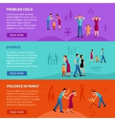 People With Family Problems Banners vector image vector image