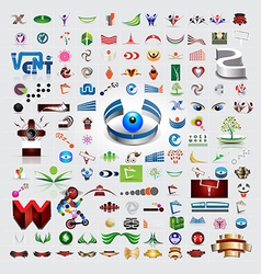 Symbols and icons set vector image vector image
