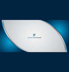 Abstract banner web template 3d dimention blue vector