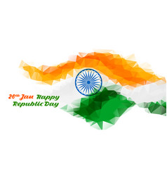 Abstract indian flag design for republic day vector