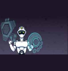 artificial intelligence background vector image