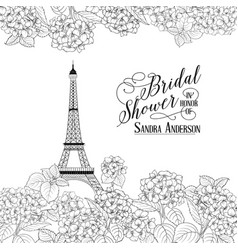 awesome vintage label bridal shower card vector image