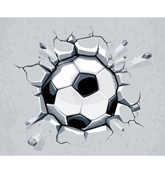 Ball breaking wall vector image vector image