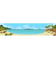 Bay tropical beach vector image