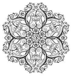 Beautiful round ornamental element for design vector