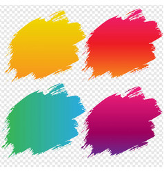 Blob banner with transparent background vector