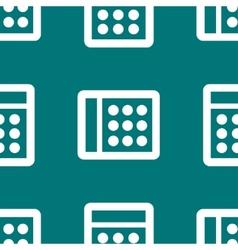 calculator web icon flat design Seamless pattern vector image