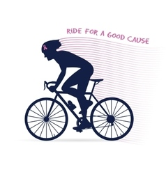 cancer awareness cycling race or competition vector image