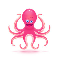 cartoon octopus isolated on vector image