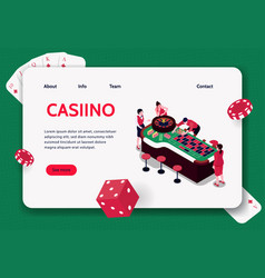 casino isometric concept banner vector image