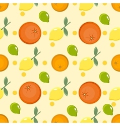Citrus pattern Fruit background Summer bright vector