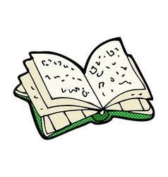 Comic cartoon open book vector