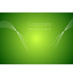 Concept green art background with torn waves vector