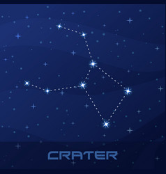 constellation crater cup night star sky vector image