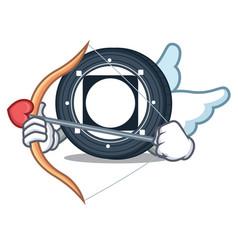 Cupid byteball bytes coin character cartoon vector