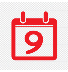 date calendar icon sign design style vector image