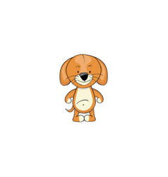 dog cartoon icon vector image