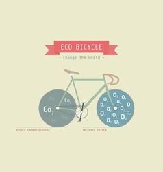 Eco bike vector image