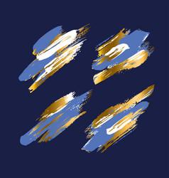elegant luxury brush stroke design element set vector image