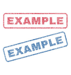 Example textile stamps vector