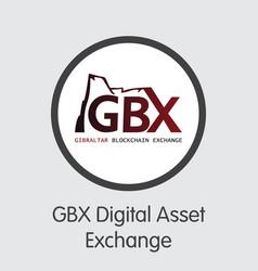 Exchange - gbx digital asset exchange crypto vector