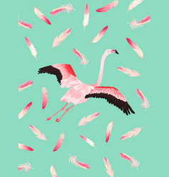 flamingo poster print bagreetings invitation vector image