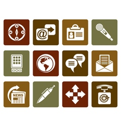Flat Business office and internet icons vector image