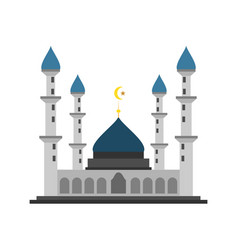 four tower grand islamic mosque building design vector image