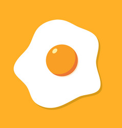 Fried egg breakfast cartoon icon isolated flat vector