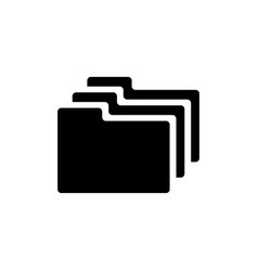 group folders flat icon vector image