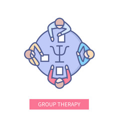 group therapy - modern line design style icon vector image