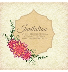 Hand drawn flower abstract background ornament vector image