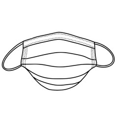 hand drawn medical mask isolated on white vector image