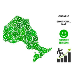 Happiness ontario province map mosaic of vector