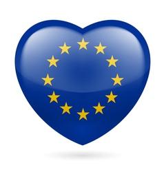 Heart icon of EU vector