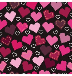 hearts and embroidery vector image