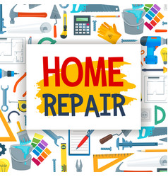 home repair and construction work tools vector image