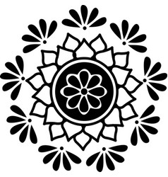indian traditional and cultural rangoli or alpona vector image